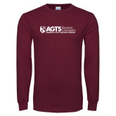 Maroon Long Sleeve T Shirt-AGTS Non Formal