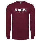 Maroon Long Sleeve T Shirt-AGTS Alumni