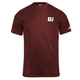 Russell Core Performance Maroon Tee-EU