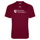 Under Armour Maroon Tech Tee-Evangel University Stacked