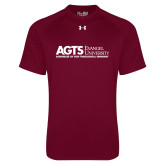 Under Armour Maroon Tech Tee-AGTS Non Formal No Shield