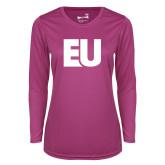 Ladies Syntrel Performance Raspberry Longsleeve Shirt-EU