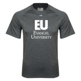 Under Armour Carbon Heather Tech Tee-Primary Mark