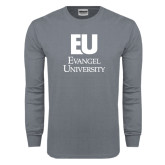 Charcoal Long Sleeve T Shirt-Primary Mark