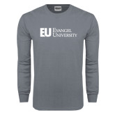 Charcoal Long Sleeve T Shirt-Primary Mark Flat