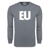 Charcoal Long Sleeve T Shirt-EU