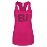 Next Level Ladies Raspberry Ideal Racerback Tank-EU Hot Pink Glitter