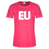 Ladies Performance Hot Pink Tee-EU