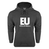 Charcoal Fleece Hoodie-Volleyball