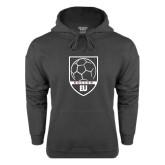 Charcoal Fleece Hoodie-Soccer Shield Design