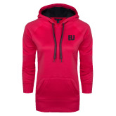 Ladies Pink Raspberry Tech Fleece Hoodie-EU Tone