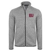 Grey Heather Fleece Jacket-EU