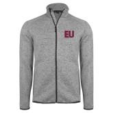 Grey Heather Fleece Jacket-EU