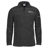 Columbia Full Zip Charcoal Fleece Jacket-Evangel University Stacked