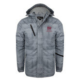 Grey Brushstroke Print Insulated Jacket-Primary Mark