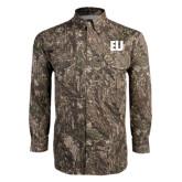 Camo Long Sleeve Performance Fishing Shirt-EU Tone