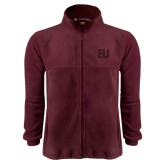 Fleece Full Zip Maroon Jacket-EU Tone