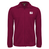 Fleece Full Zip Maroon Jacket-EU