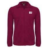 Fleece Full Zip Maroon Jacket-EU