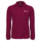 Fleece Full Zip Maroon Jacket-Evangel University Stacked