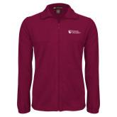 Fleece Full Zip Maroon Jacket-Evangel University Stacked