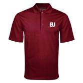 Maroon Mini Stripe Polo-EU