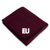 Maroon Arctic Fleece Blanket-EU