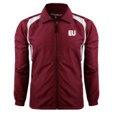 Colorblock Maroon/White Wind Jacket-EU