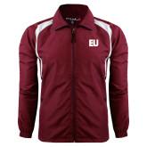 Colorblock Maroon/White Wind Jacket-EU