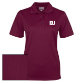 Ladies Maroon Dry Mesh Polo-EU