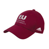 Adidas Maroon Structured Adjustable Hat-Primary Mark