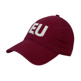 Maroon Twill Unstructured Low Profile Hat-EU