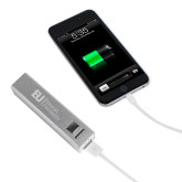 Aluminum Silver Power Bank-Primary Mark Flat Engraved