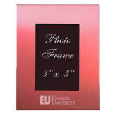 Pink Brushed Aluminum 3 x 5 Photo Frame-Primary Mark Flat Engraved