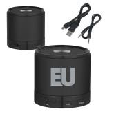 Wireless HD Bluetooth Black Round Speaker-EU  Engraved