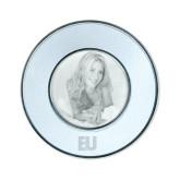 Silver Two Tone Small Round Photo Frame-EU Engraved