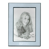 Silver Two Tone 5 x 7 Vertical Photo Frame-Primary Mark Flat Engraved
