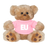 Plush Big Paw 8 1/2 inch Brown Bear w/Pink Shirt-EU