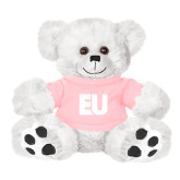 Plush Big Paw 8 1/2 inch White Bear w/Pink Shirt-EU