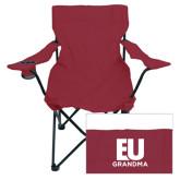 Deluxe Maroon Captains Chair-Grandma