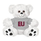 Plush Big Paw 8 1/2 inch White Bear w/Grey Shirt-EU