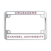Metal Motorcycle License Plate Frame in Chrome-Crusaders