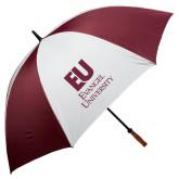 62 Inch Maroon/White Umbrella-Primary Mark