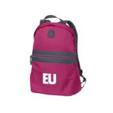 Pink Raspberry Nailhead Backpack-EU