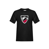 Youth Black T Shirt-Shield