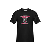 Youth Black T Shirt-Basketball