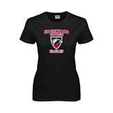 Ladies Black T Shirt-Edgewood College Eagles