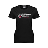 Ladies Black T Shirt-Edgewood College