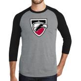 Grey/Black Tri Blend Baseball Raglan-Shield