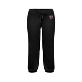 ENZA Ladies Black Banded Fleece Capri-Shield